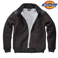 DICKIES Fleece-Zipjacke schwarz