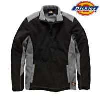 DICKIES Fleecepullover schwarz/grau